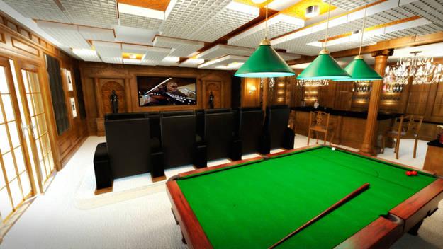 4.) Playing billiards would be a great way to relieve your nerves after a scary movie.