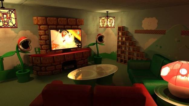5.) For all of you Nintendo fans out there, a Mario themed theater.