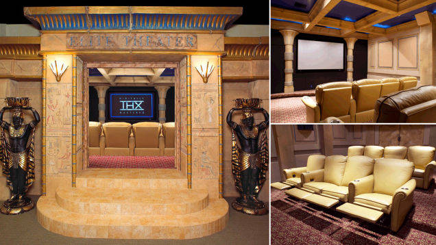 7.) If your sense of style is more B.C. go for an Egyptian themed theater like this one.