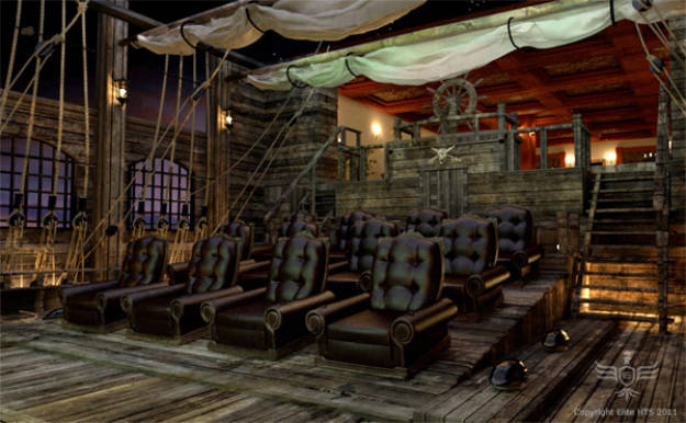 """10.) This would be an awesome design for a home theater. Just remember it's illegal to """"pirate"""" movies."""