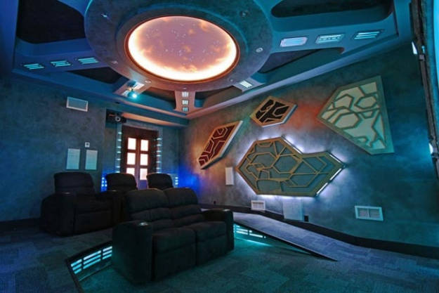1.) You could theme your home theater along the lines of Stargate: Atlantis.