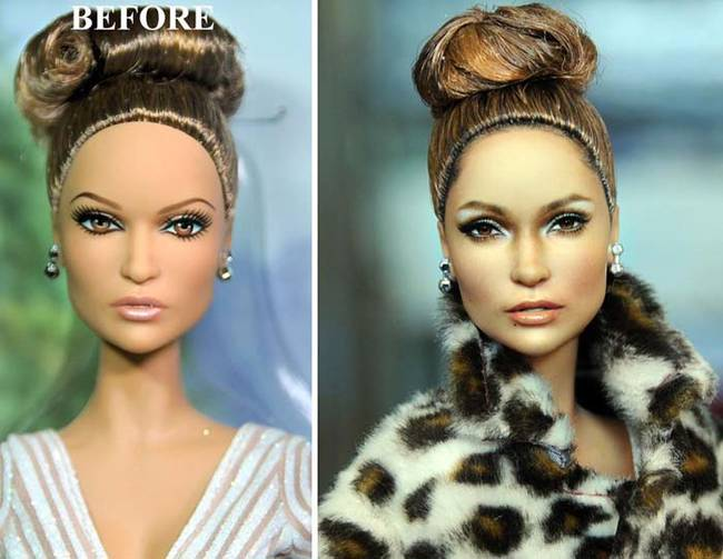 This Jennifer Lopez doll could be anyone. Cruz's makeover is undeniably recognizable.