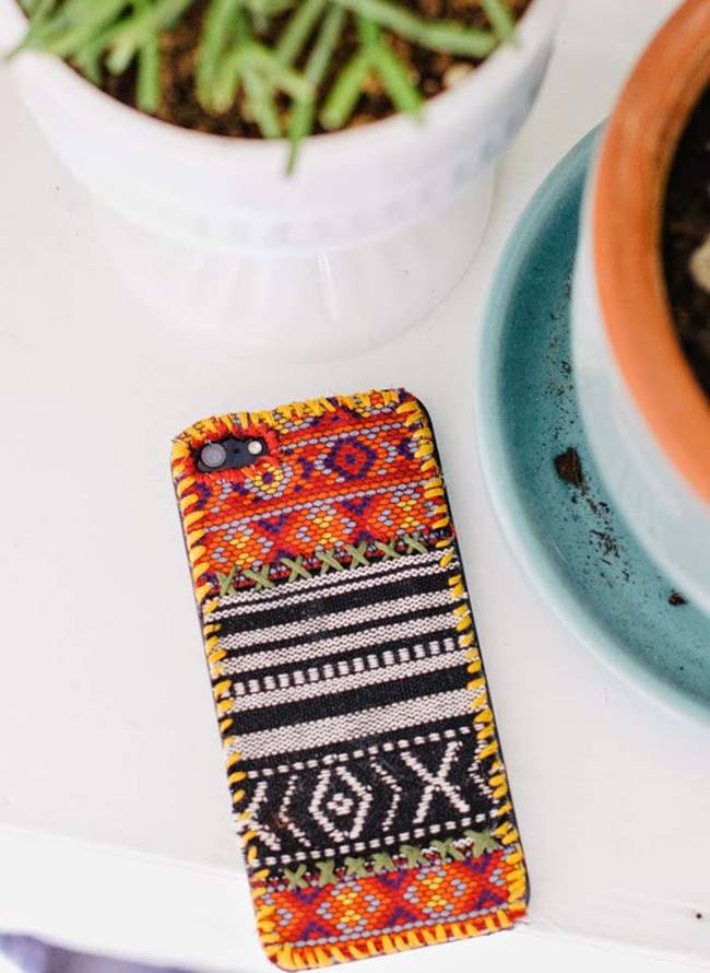 6.) Make your phone look like a tapestry in a few easy steps.